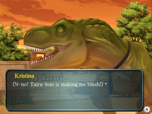 That awkward moment when a giant dinosaur is making me all aflush.