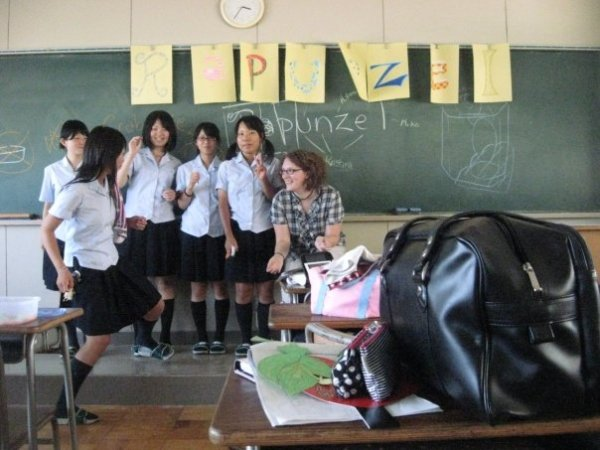 My first lesson at an English Camp in Shizuoka
