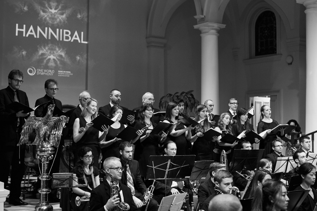 """Debut of its 16-member vocal ensemble, One World Concertus, Chorusmaster Sung Jin Hong, performing Faure's Requiem and as a Greek chorus in """"Hannibal"""